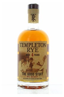 "Templeton Rye 4 Year 80 pf. ""The Good Stuff"""